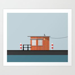 Vector Building Series (Bristol)  Art Print