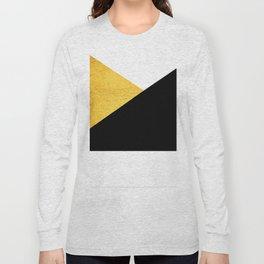 Gold & Black Geometry Long Sleeve T-shirt