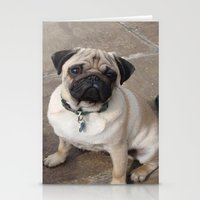 pugs Stationery Cards featuring Pugs by JordynC
