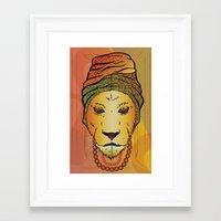 erykah badu Framed Art Prints featuring Erykah Badu Lioness by Adrien Mcneil