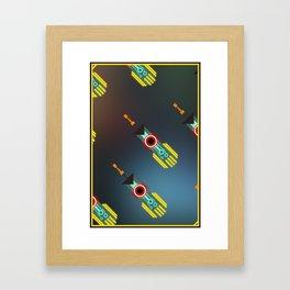 Transistor Swords Framed Art Print