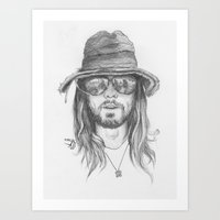 jared leto Art Prints featuring Jared Leto by alexandraverena