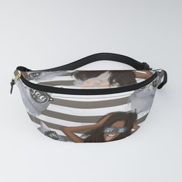 African American Girl With Glasses Friyay And Cat With Glasses Friyay Pattern Fanny Pack