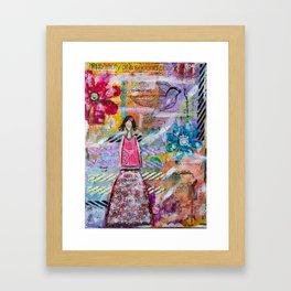 Go with your heart Framed Art Print