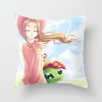 digimon Throw Pillows featuring Digimon Dream Mimi by valsharea