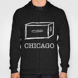 Chicago apple box (white) Hoody