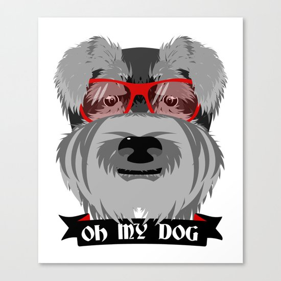 Oh My Dog Canvas Print