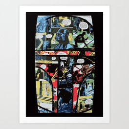 Boba Fett Collage Art Print