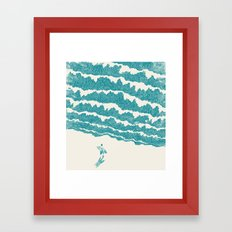 To the sea Framed Art Print