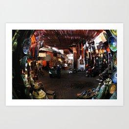 Marrakech Souks, Morocco, Africa Art Print