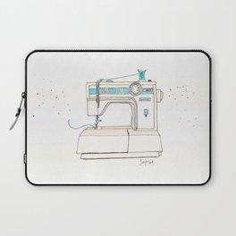 Vintage White 1805 Sewing Machine with Aqua Spool Laptop Sleeve
