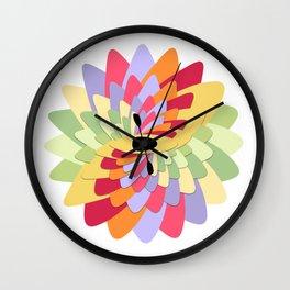 White Water Kayak Flower Wall Clock