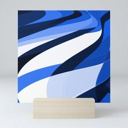 blu slant 1 Mini Art Print