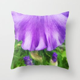 499 - Purple Iris Abstract Throw Pillow