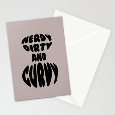 Nerdy, Dirty, and Curvy Stationery Cards