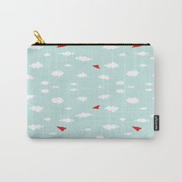 Red Paper Airplanes Carry-All Pouch