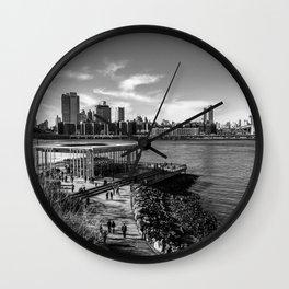 Between Bridges Wall Clock