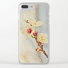 Almond Blossoms in the Wind Clear iPhone Case