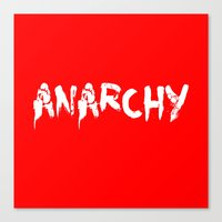 anarchy Canvas Prints featuring ANARCHY by lucborell