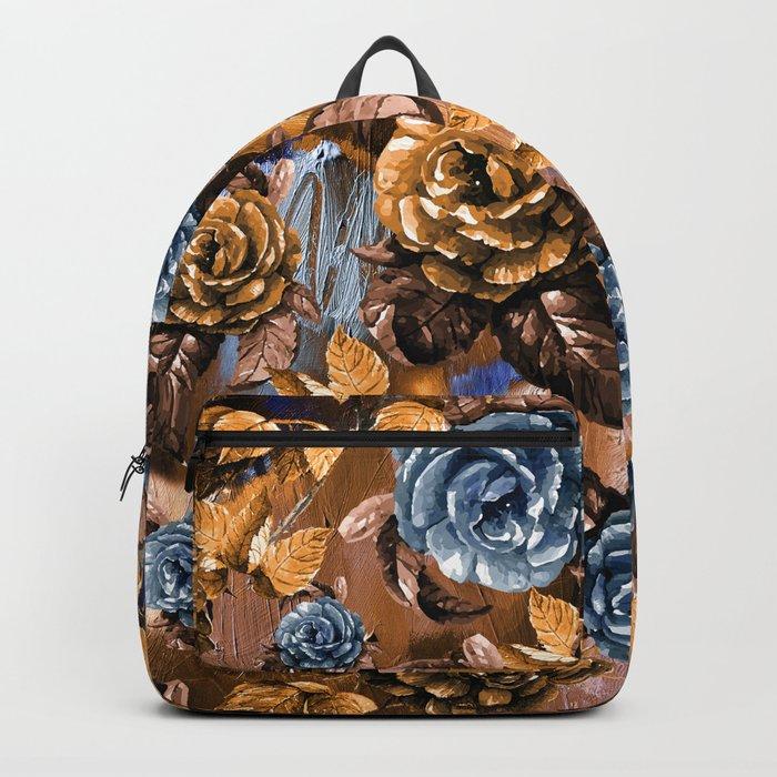 Flowers wint Watercolors Backpack