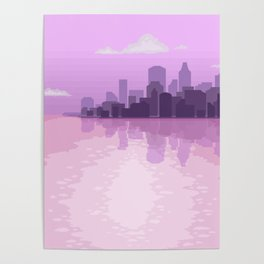 City Reflections Poster