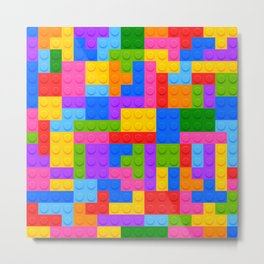 Blocks Brick Game Metal Print