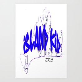 Island Kid Blue Wave Art Print