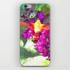 Butterfly Over Fuchsia Flowers iPhone & iPod Skin