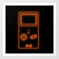 Neon Game Boy Advance SP Art Print