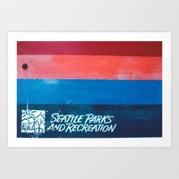 parks and recreation Art Prints featuring Seattle Parks & Recreation by TriReeval