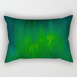 Green Abstract Rectangular Pillow