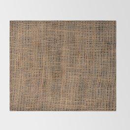 Burlap Grid Throw Blanket