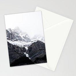 Snowy Mountain Landscape Stationery Cards