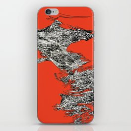 Waterfall in Red iPhone Skin