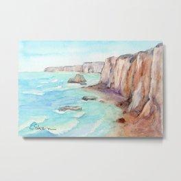 Cliffs at Normandie WC160404c-11 Metal Print