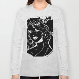 Crying Comic Book Damsel in Distress Long Sleeve T-shirt