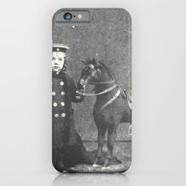 1876 Boy with Toy Horse iPhone Case