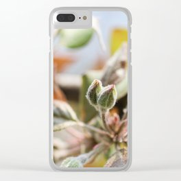 blooming apple tree Clear iPhone Case