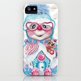 Snowflakes n Sweets Snowman iPhone Case