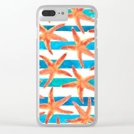 Starfish Tropics Clear iPhone Case