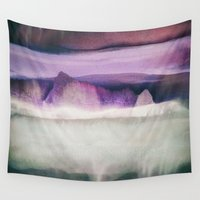 northern lights Wall Tapestries featuring Northern Lights by SpaceFrogDesigns