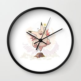 Clefable Wall Clock