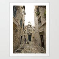 The Quiet Backstreets of Dubrovnik Art Print