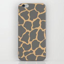 Safari Giraffe Print - Gray & Beige iPhone Skin