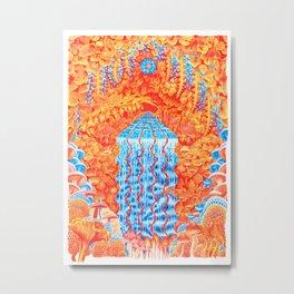 Mushroom Waterfall Metal Print