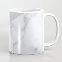 NAVY BLUE MARBLE GRAY GEOMETRIC Coffee Mug
