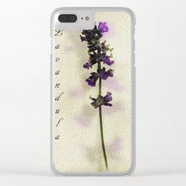 Purple Lavender Clear iPhone Case