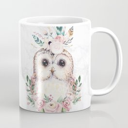 Forest Owl Floral Marble by Nature Magick Coffee Mug