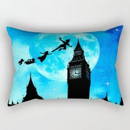 Magical Watercolor Night - Peter Pan Rectangular Pillow