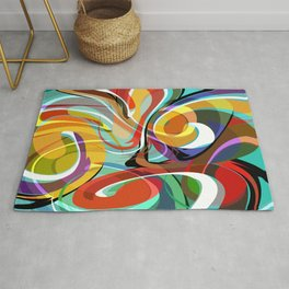 Colorful Abstract Whirly Swirls - V1 Rug